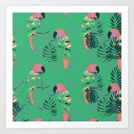 Pretty Polly green palm Art Print