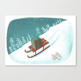 sled post Canvas Print