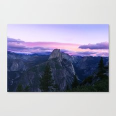 The Mountains and Purple Clouds Canvas Print