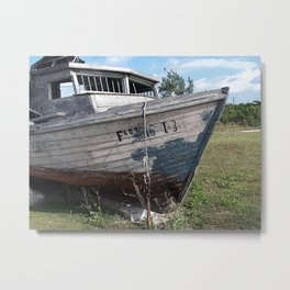 Go With the Flo Metal Print