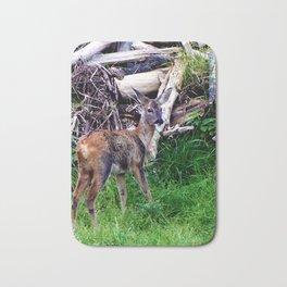 young deer builds a nest Bath Mat