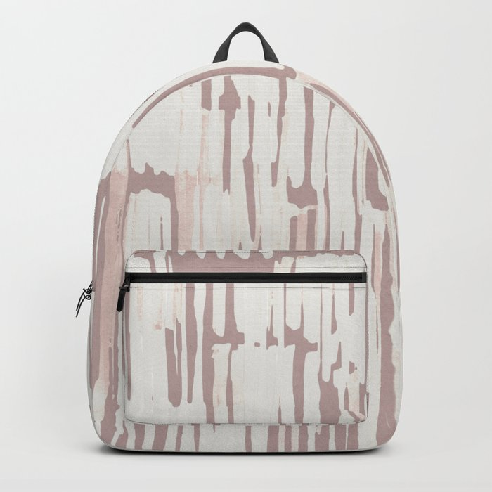 Simply Bamboo Brushstroke Lunar Gray on Clay Pink Backpack