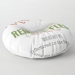 Christmas Reindeer Feed sack Floor Pillow
