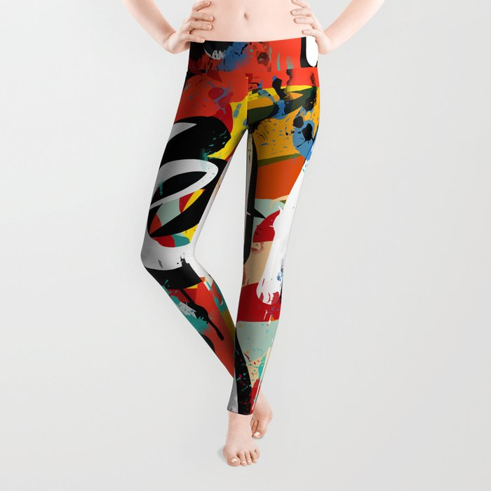 66c0fc43ccae Fear is: Street Art Graffiti Writing Urban Fashion Leggings by ...