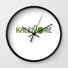 Kaleivore Kale Art for Vegans, Vegetarians Light Wall Clock