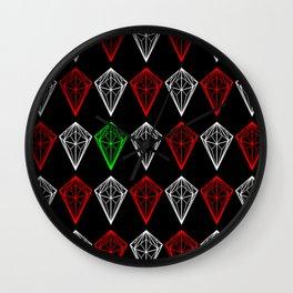 Diamonds Rubies and sapphire Wall Clock