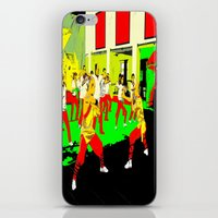workout iPhone & iPod Skins featuring Workout by lookiz
