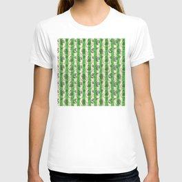 Stripes & Shells - green T-shirt