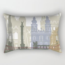 Budapest skyline poster Rectangular Pillow