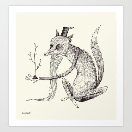 'Waiting' Art Print