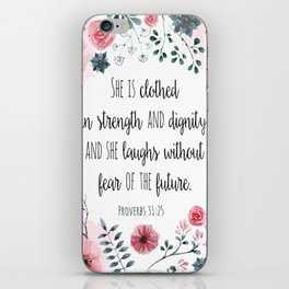 Proverbs 31:25 iPhone Skin