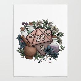 Alchemist D20 Tabletop RPG Gaming Dice Poster