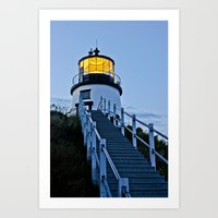 owl's head lighthouse Art Print