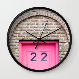 Door Number 22 Wall Clock