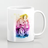 river song Mugs featuring River Song Watercolor Mixed Media Digital Painting by Purshue