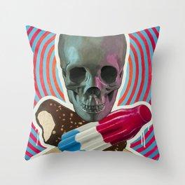 Skull x Pops Throw Pillow
