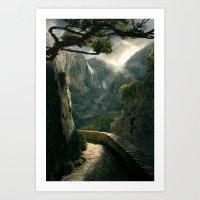 Hall of the Dragon Mist Art Print