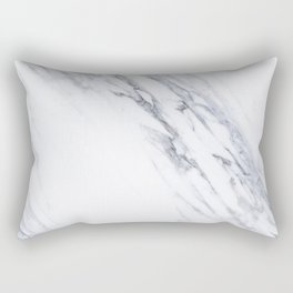 White Marble with Classic Black Veins Rectangular Pillow