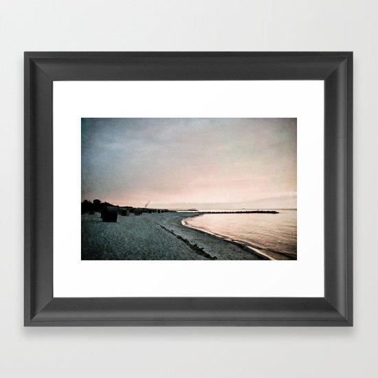 evening mood Framed Art Print