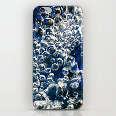 Blue Bubbles Macro photography River stream underwater abstract art bright bold vibrant color! iPhone & iPod Skin