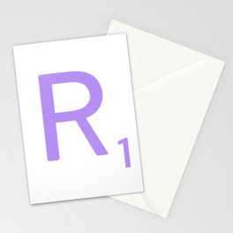 Monogram Art Scrabble R Stationery Cards