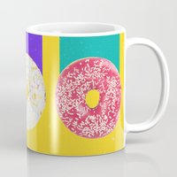 donuts Mugs featuring Donuts by Danny Ivan