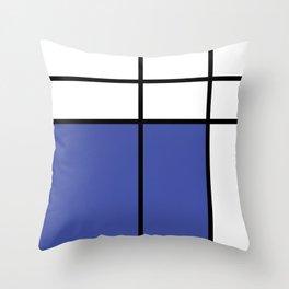 mondrian, piet mondrian, mondrian pattern, mondrian composition, blue, Throw Pillow