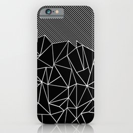 Ab Lines 45 Black iPhone Case