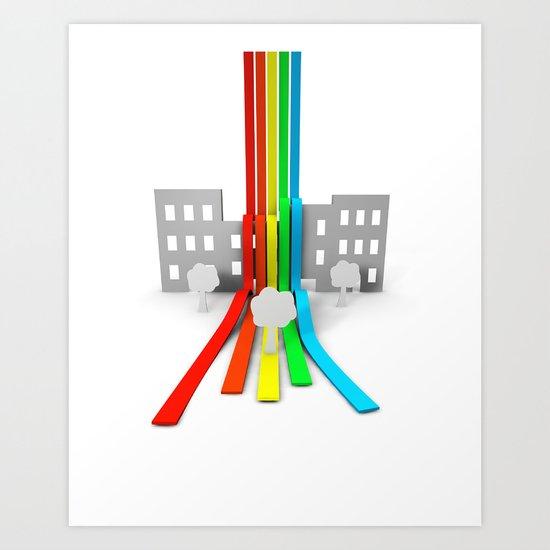 Spectrum in Town Art Print