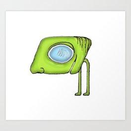 Funny Alien Monster Character Art Print