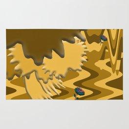 Shades of Brown Waves Rug