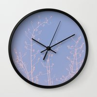reassurance Wall Clocks featuring Serenity of Rose Jasmine by tanjica