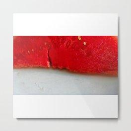 Sandía (rojo y blanco) Metal Print