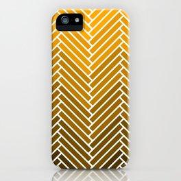 Parquet All Day - Gold Lamé iPhone Case