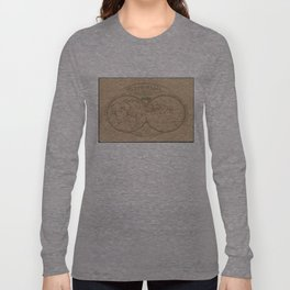 Vintage Map of The World (1839) Long Sleeve T-shirt