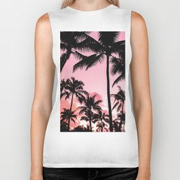Tropical Trees Silhouette Biker Tank