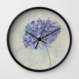Beautiful Blue Hydrangea Wall Clock