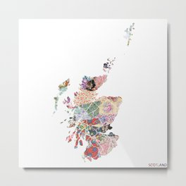 Scotland map Metal Print