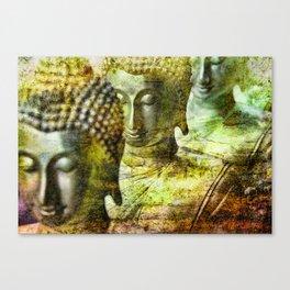 Buddhas yellow Canvas Print