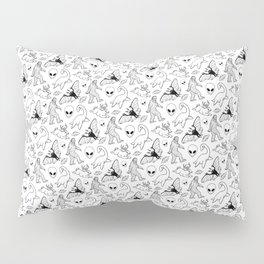 Cryptid Lineart Pattern 2 (White) Pillow Sham