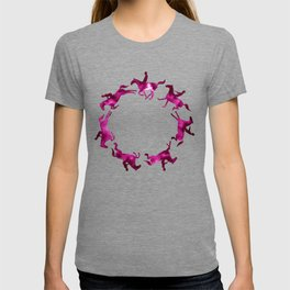 Showjumping Horse Sequence (Magenta) T-shirt