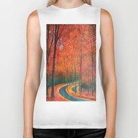 eugenia loli Biker Tanks featuring Beautiful colors of Autumn by maggs326