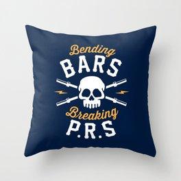 Bending Bars Breaking PRs Throw Pillow