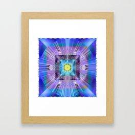 Power Meditation Mandala Feng Shui Wealth Attractor Framed Art Print