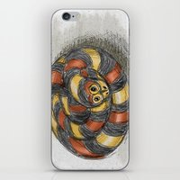 snake iPhone & iPod Skins featuring Snake by Michelle Behar