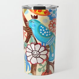 Pop Flowers Travel Mug