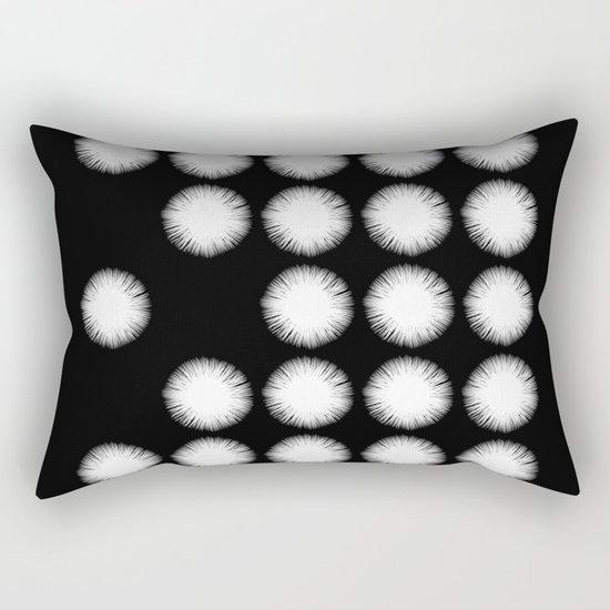 White Fuzz (Abstract, black and white minimalism) Rectangular Pillow
