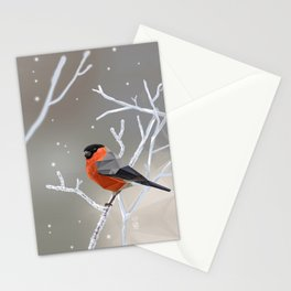 Safe transitions! // (polygonal bull-finch) Stationery Cards