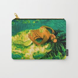 Nude Mermaid white green tail ladykashmir Carry-All Pouch