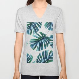 Monstera Pattern #society6 #decor #buyart Unisex V-Neck